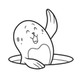 cute seal vector image vector image