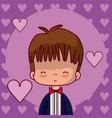 cute wedding boyfriend cartoon vector image vector image