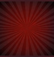 dark red burst retro poster vector image