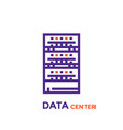 data center server icon vector image vector image