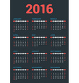 Design Print Template Poster Calendar for 2016