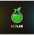 eco lab logo template vector image