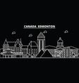 edmonton silhouette skyline canada - edmonton vector image vector image