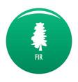 fir tree icon green vector image