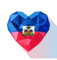 flat style logo symbol of love haiti vector image vector image