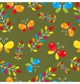 Floral seamless pattern with bird and butterflies vector image vector image