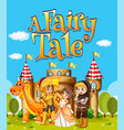 font design for word a fairy tale with knights vector image vector image