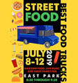 Food festival flyer with food alphabet