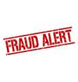 fraud alert stamp vector image vector image