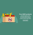 free gmo products banner horizontal concept vector image vector image