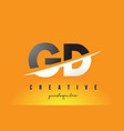 gd g d letter modern logo design with yellow vector image vector image