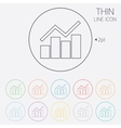 Graph chart sign icon Diagram symbol vector image