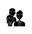 group leadership black icon sign on vector image
