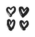 Hand drawn hearts set vector image vector image