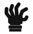 hand fear icon simple black style vector image vector image