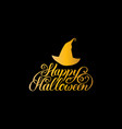hat with happy halloween vector image vector image