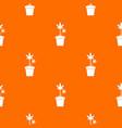 hemp in pot pattern seamless vector image vector image