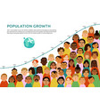 international human faces infographics vector image vector image