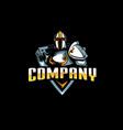 knight paladin emblem vector image vector image