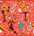 mexico culture seamless pattern background vector image