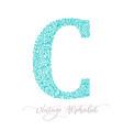 monoline letter c logo concept icon vector image