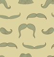 mustache pattern vector image vector image