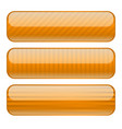 orange rectangle buttons blank icons with stripe vector image vector image