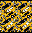 pattern seamless with skateboards skate vector image vector image