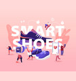 people wear smart shoes concept sports people vector image