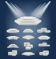 podium realistic showroom pedestal stages vector image