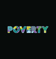 poverty concept word art vector image vector image
