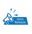 press release icon news with megaphone newspaper vector image vector image