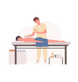 professional massage therapist practicing vacuum vector image