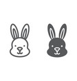 rabbit line and glyph icon hare and animal bunny vector image vector image