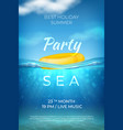 realistic summer poster sea underwater pool party vector image