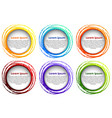 round border template in six colors vector image vector image