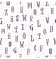 seamless pattern from the latin alphabet can be vector image vector image
