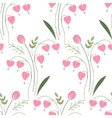 Seamless pattern with stylized cute red flowers vector image vector image