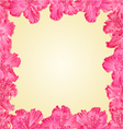 Seamless texture frame of rhododendron vector image vector image