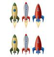 set rockets vector image