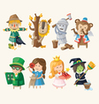 set toy personages vector image vector image