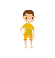 smiling boy in casual summer clothes cute boy in vector image