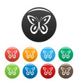 spotted butterfly icons set color vector image vector image