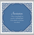 square cutout paper lace frame vector image vector image