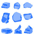 stones blue color set vector image