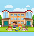 student learning in front school vector image vector image