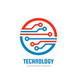 technology - business logo template vector image vector image