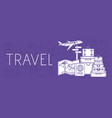 travel around the world set icons vector image