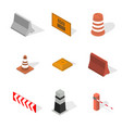 under construction design elements in 3d vector image vector image