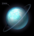 uranus realistic planet is isolated on the cosmic vector image